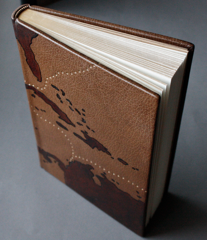 The Buccaneers of America, full leather binding with hand tooling and gilding